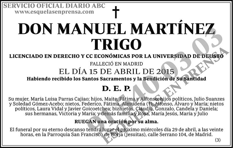 Manuel Martínez Trigo